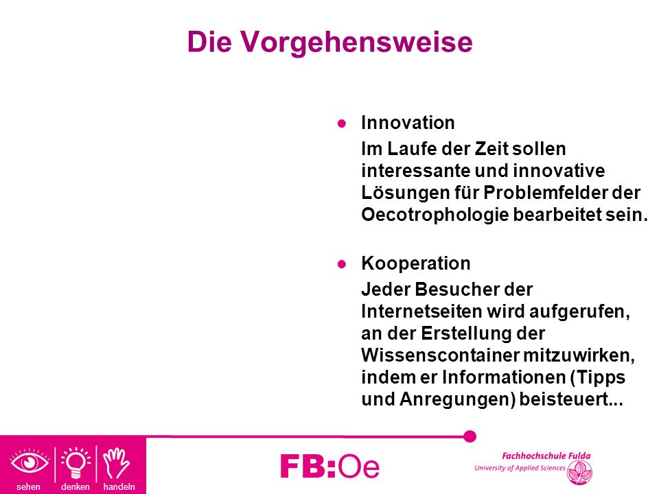 FB:Oe Die Vorgehensweise Innovation