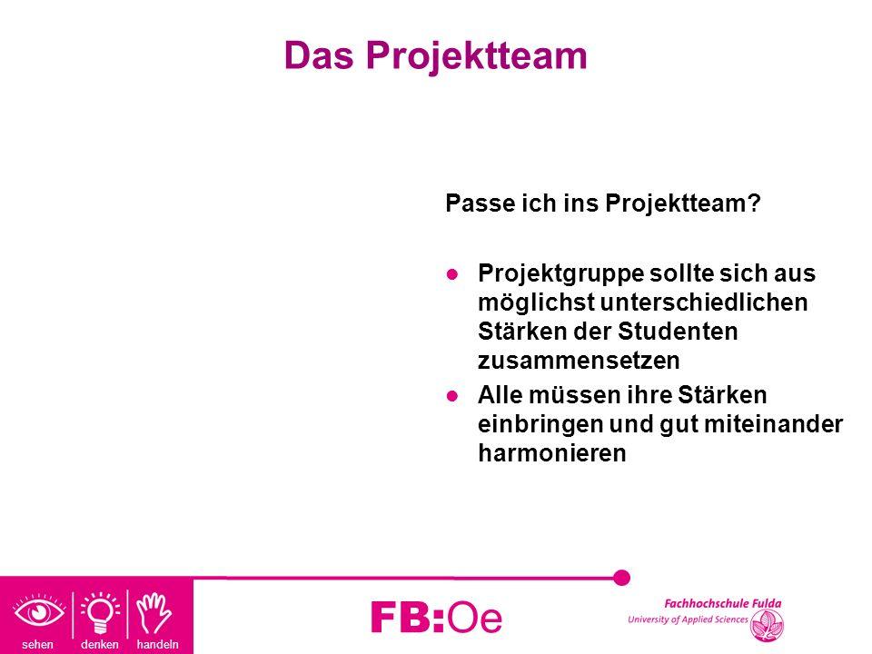 FB:Oe Das Projektteam Passe ich ins Projektteam