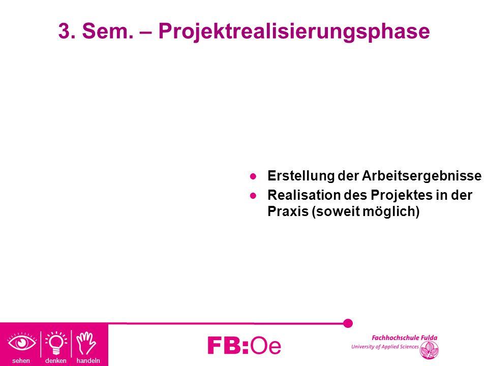 3. Sem. – Projektrealisierungsphase