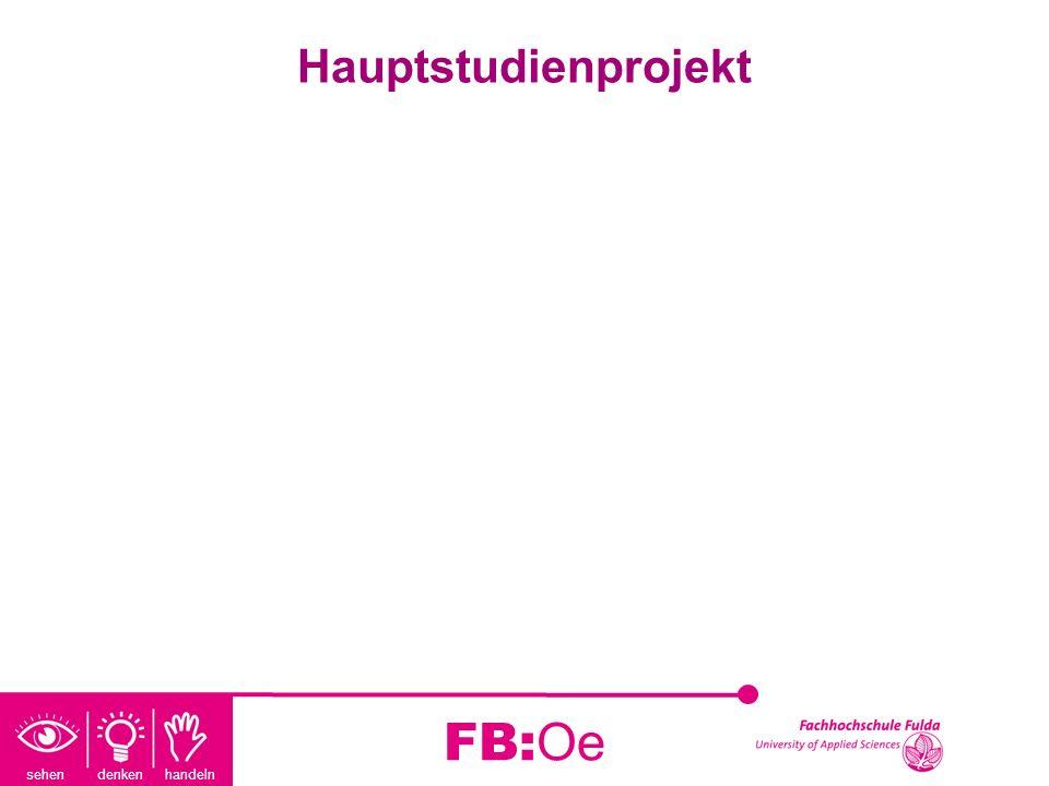 Hauptstudienprojekt FB:Oe