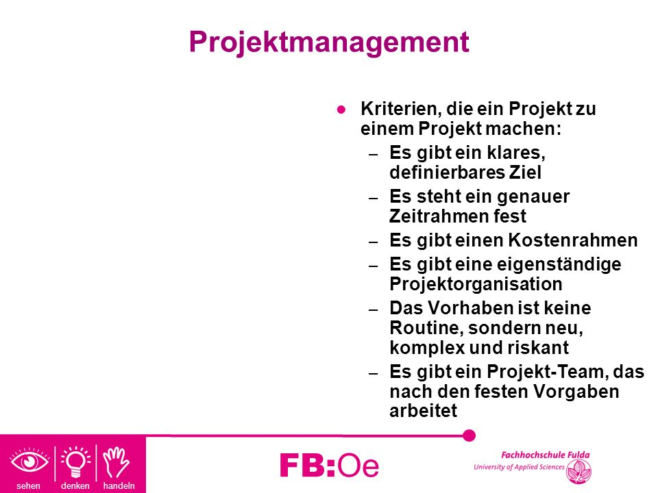 FB:Oe Projektmanagement
