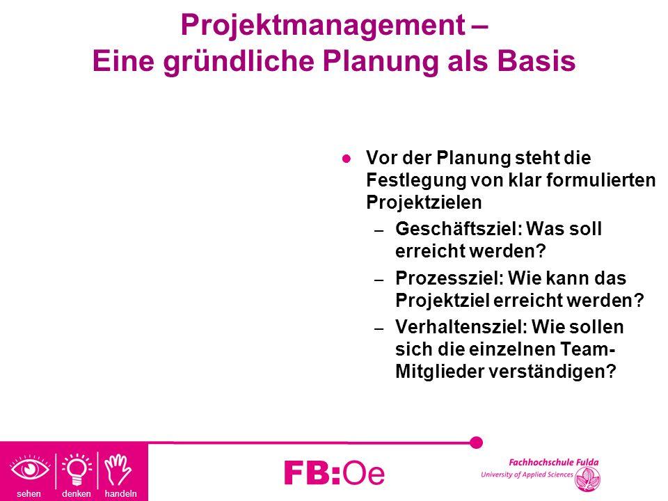 Projektmanagement – Eine gründliche Planung als Basis