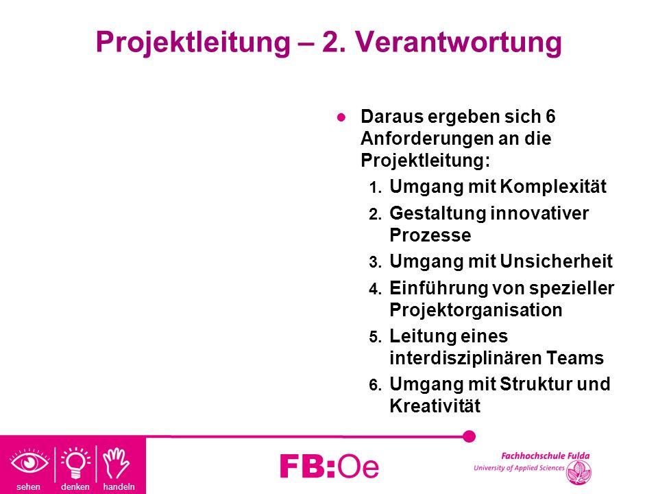 Projektleitung – 2. Verantwortung