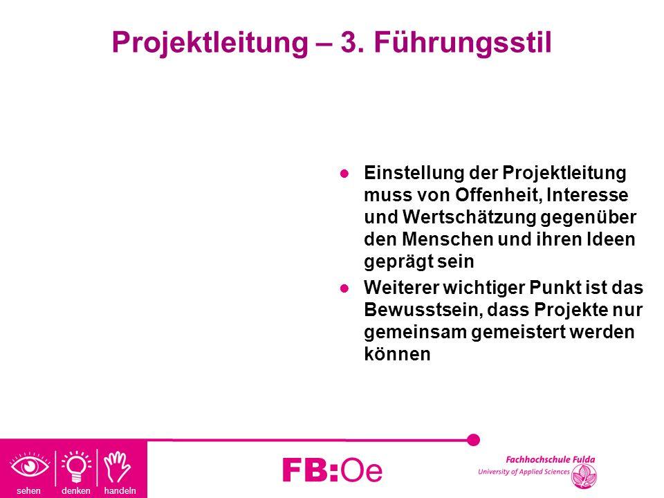 Projektleitung – 3. Führungsstil