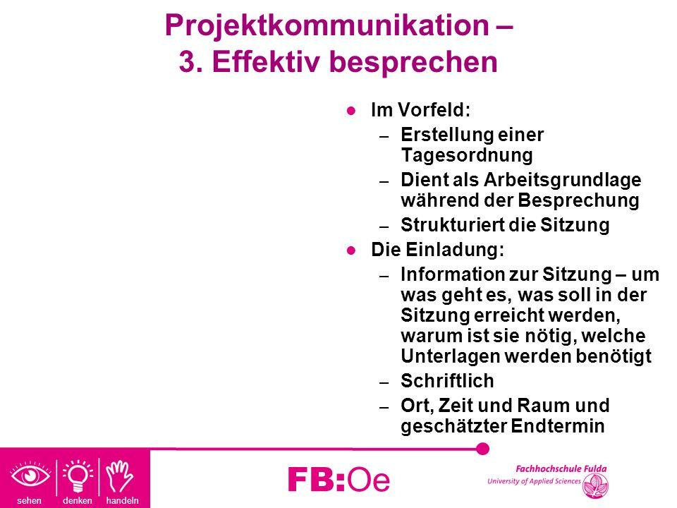 Projektkommunikation – 3. Effektiv besprechen