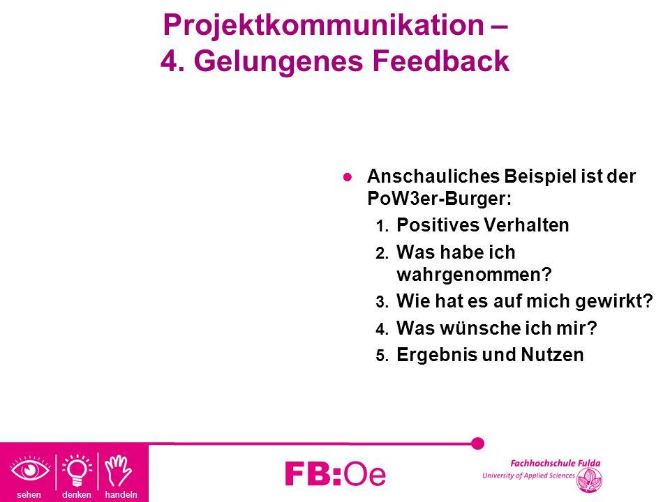 Projektkommunikation – 4. Gelungenes Feedback