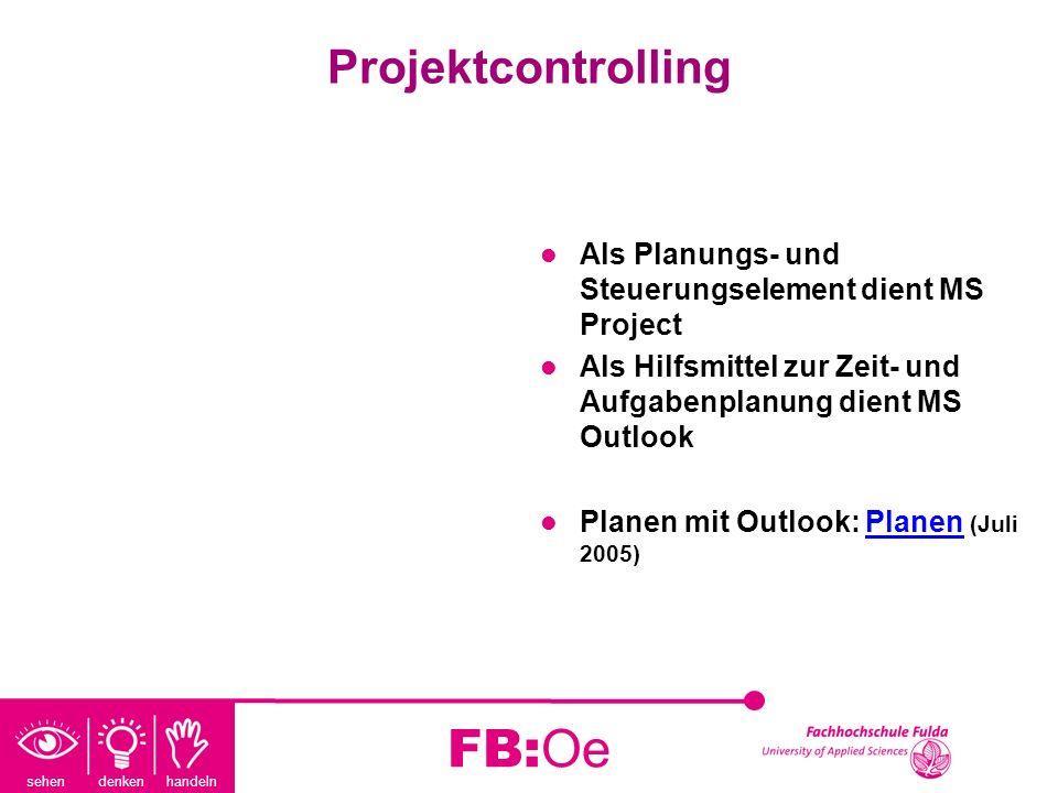 FB:Oe Projektcontrolling