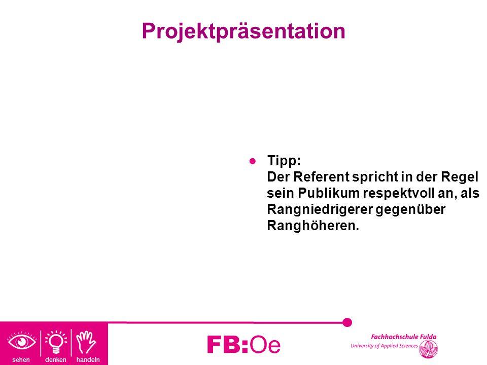 FB:Oe Projektpräsentation
