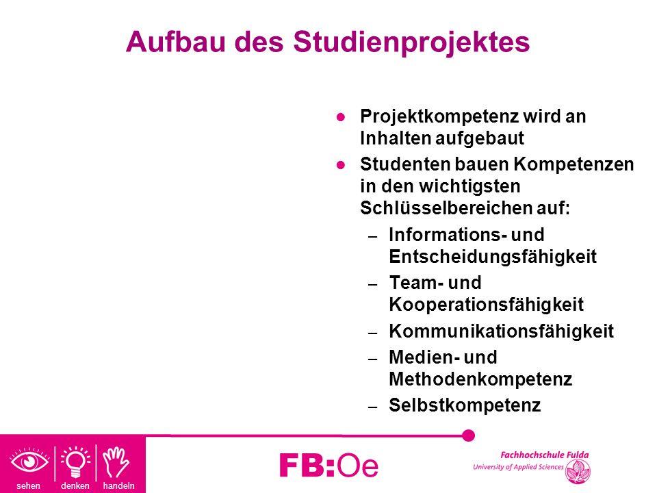 Aufbau des Studienprojektes