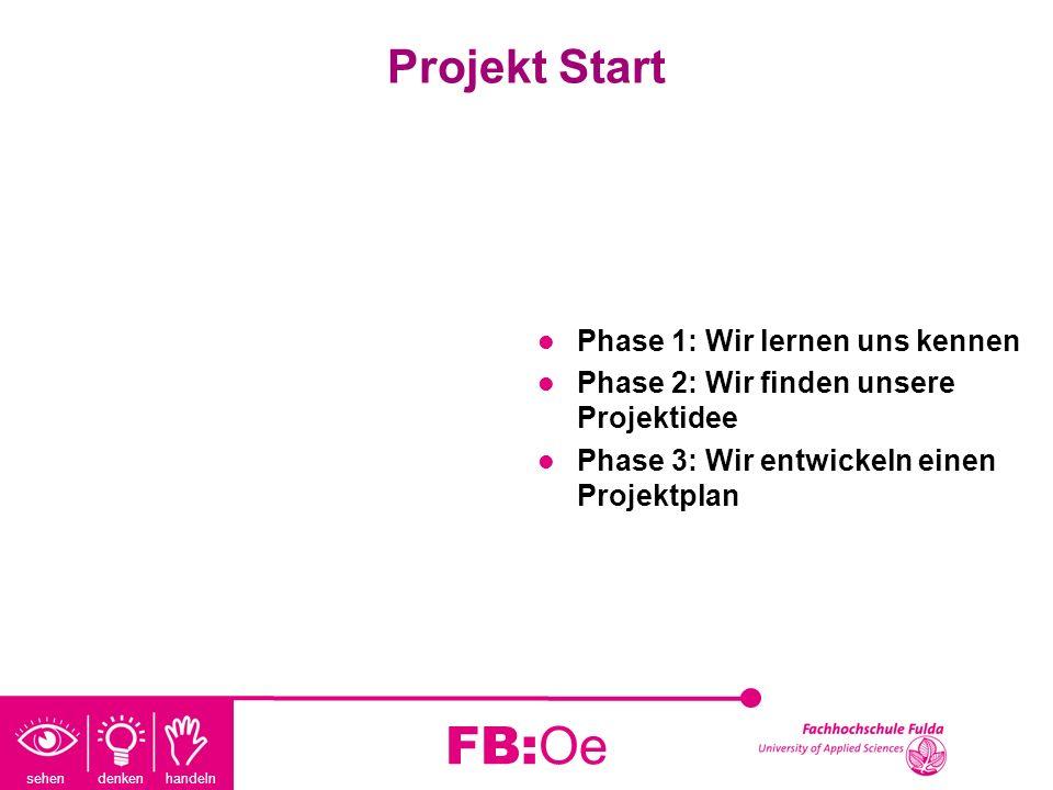 FB:Oe Projekt Start Phase 1: Wir lernen uns kennen