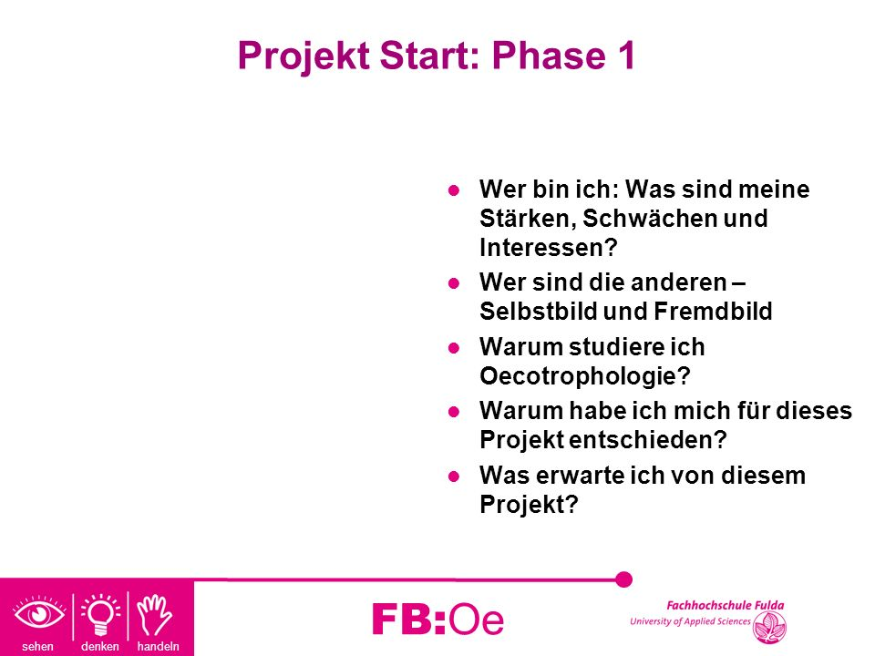 FB:Oe Projekt Start: Phase 1