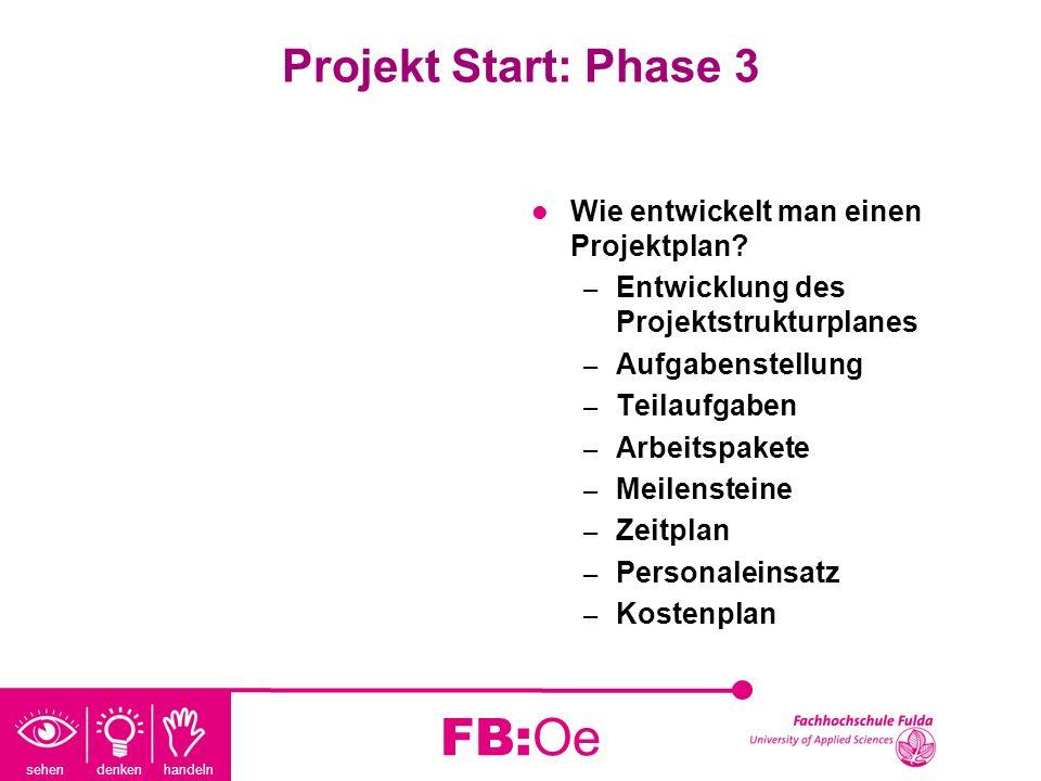FB:Oe Projekt Start: Phase 3 Wie entwickelt man einen Projektplan