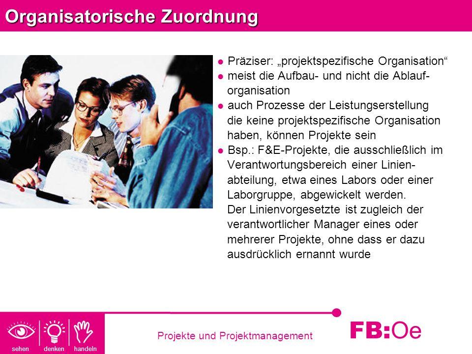 Organisatorische Zuordnung