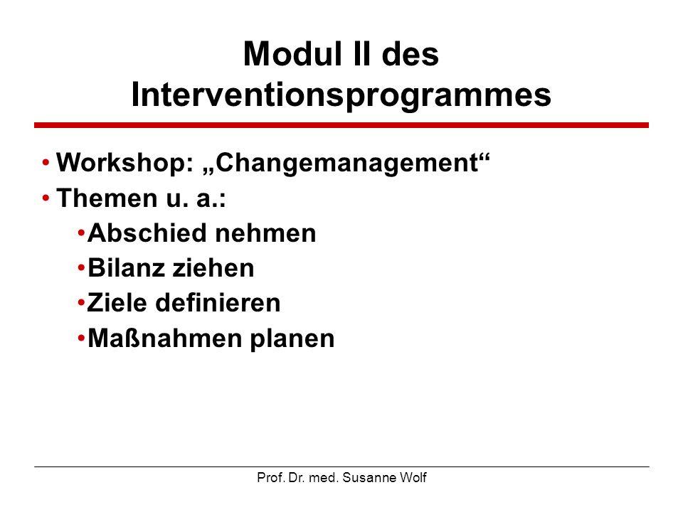 Modul II des Interventionsprogrammes