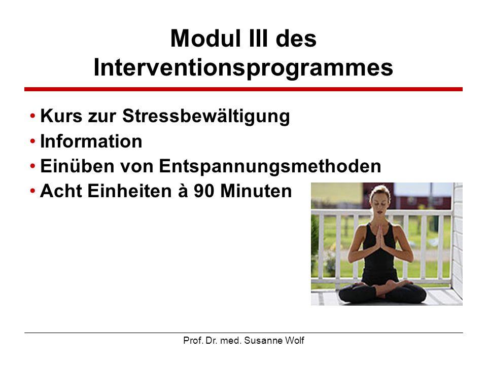 Modul III des Interventionsprogrammes