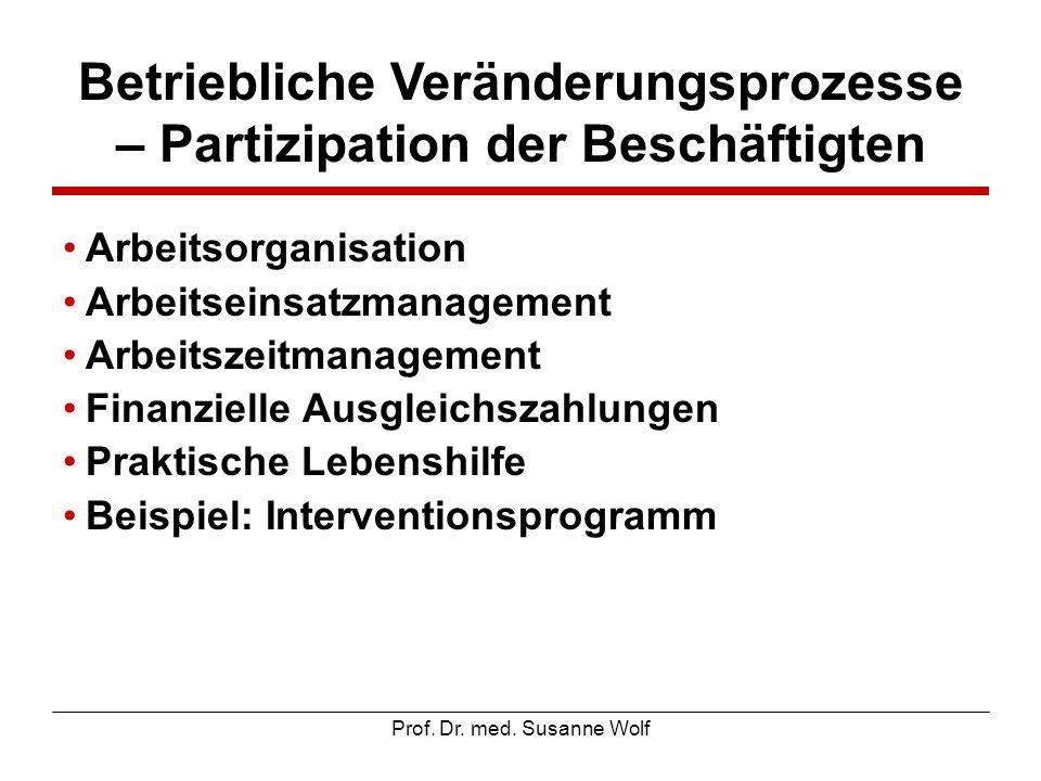 Betriebliche Veränderungsprozesse – Partizipation der Beschäftigten