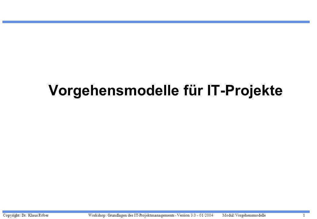 Vorgehensmodelle für IT-Projekte