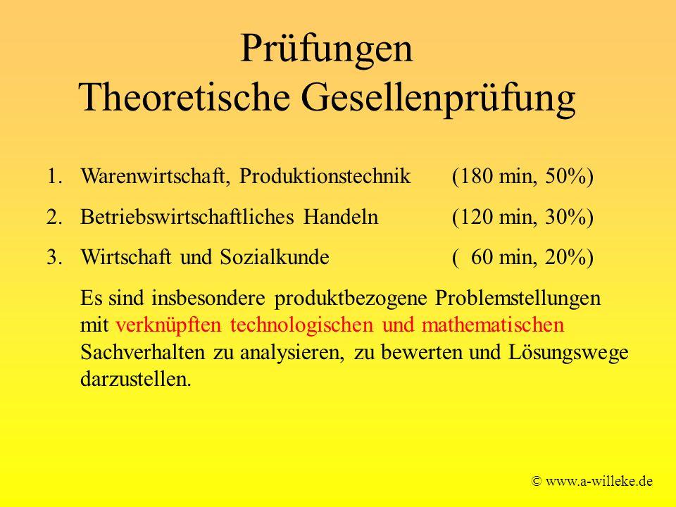 Prüfungen Theoretische Gesellenprüfung