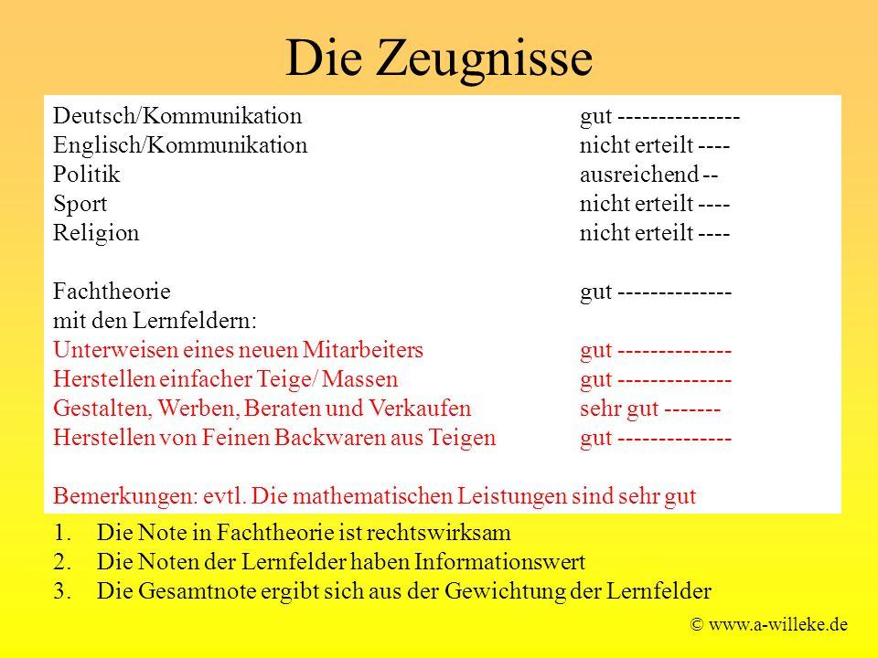 Die Zeugnisse Deutsch/Kommunikation gut ---------------