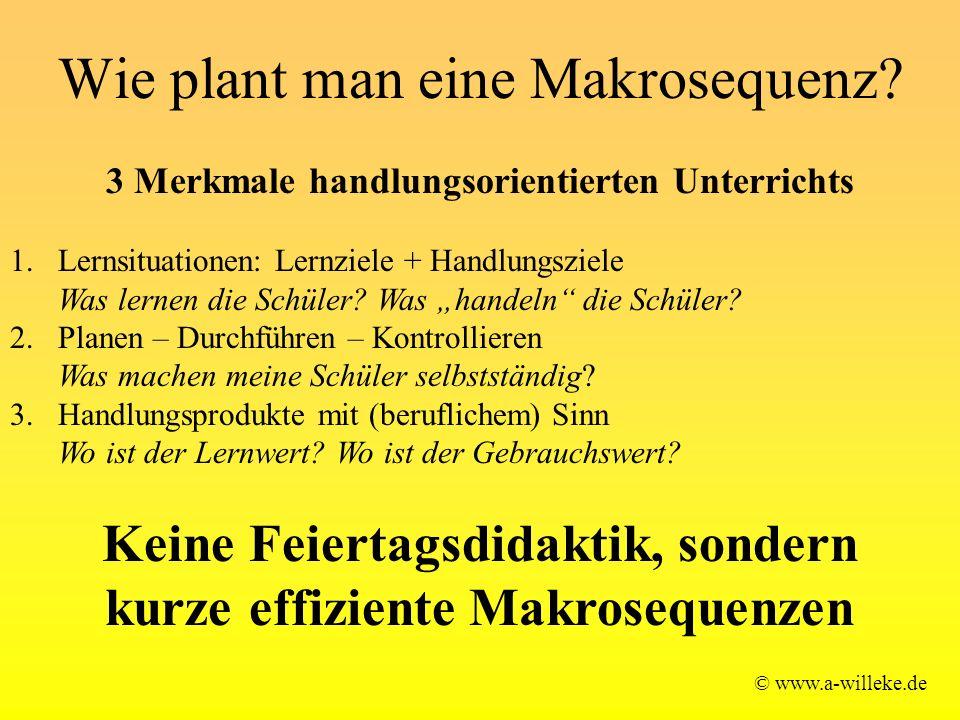 Wie plant man eine Makrosequenz