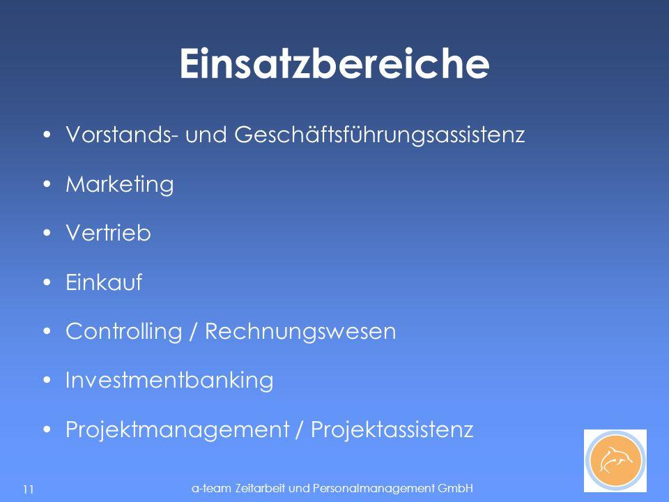 Einsatzbereiche Vorstands- und Geschäftsführungsassistenz Marketing