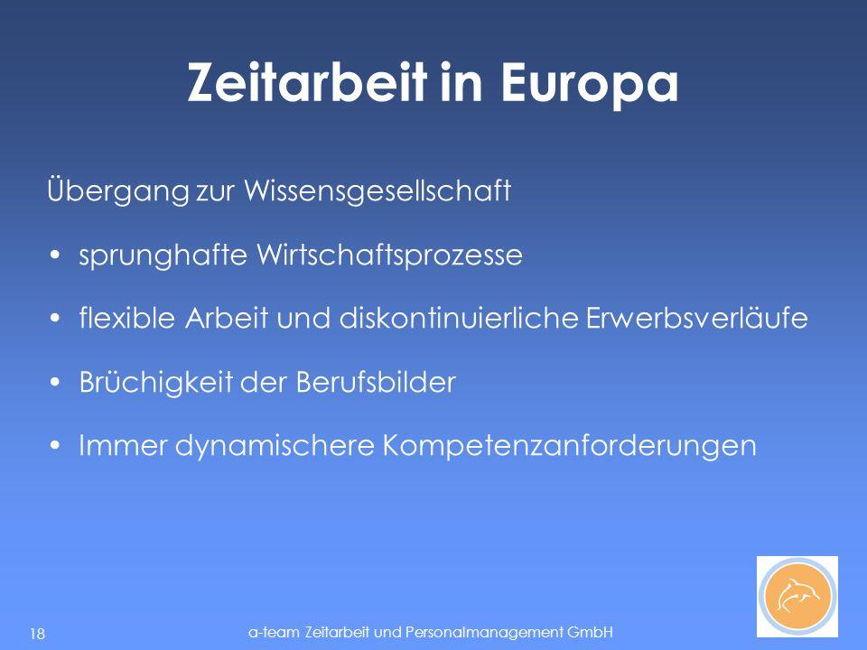 Zeitarbeit in Europa Übergang zur Wissensgesellschaft