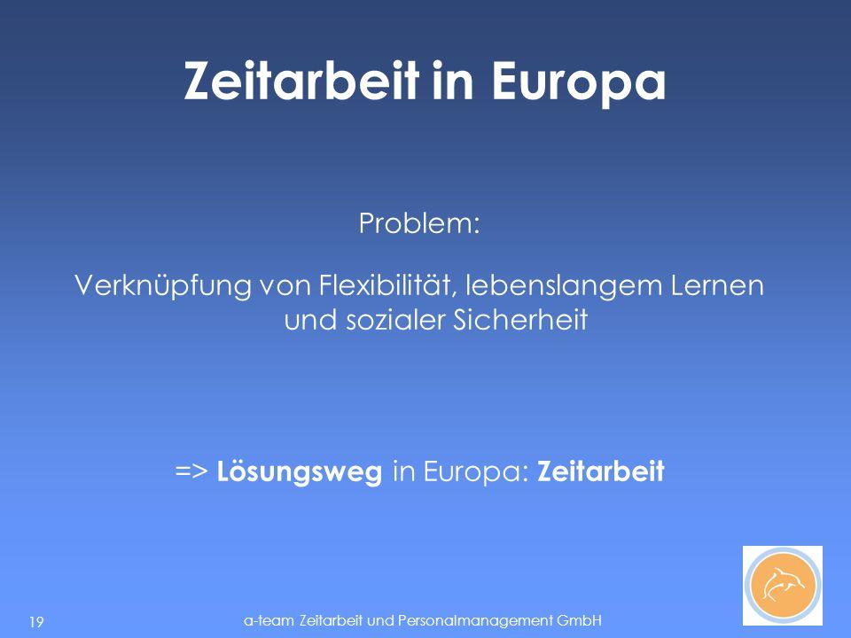 => Lösungsweg in Europa: Zeitarbeit