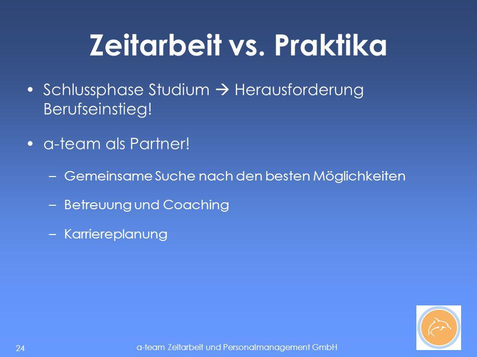 Zeitarbeit vs. Praktika