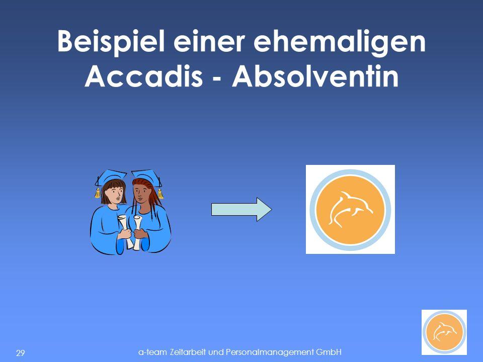 Beispiel einer ehemaligen Accadis - Absolventin
