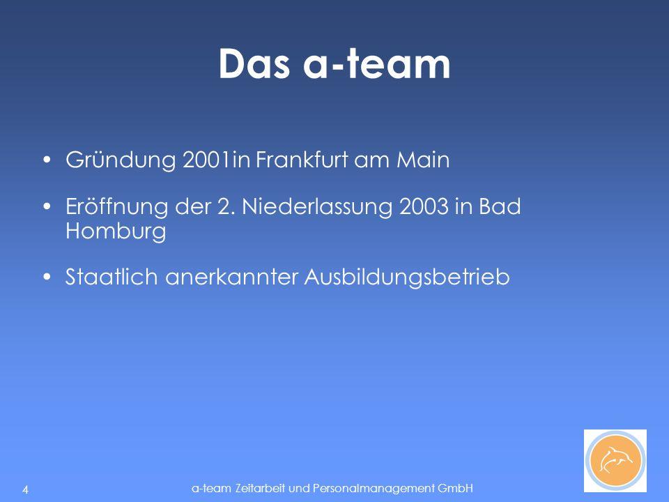 Das a-team Gründung 2001in Frankfurt am Main