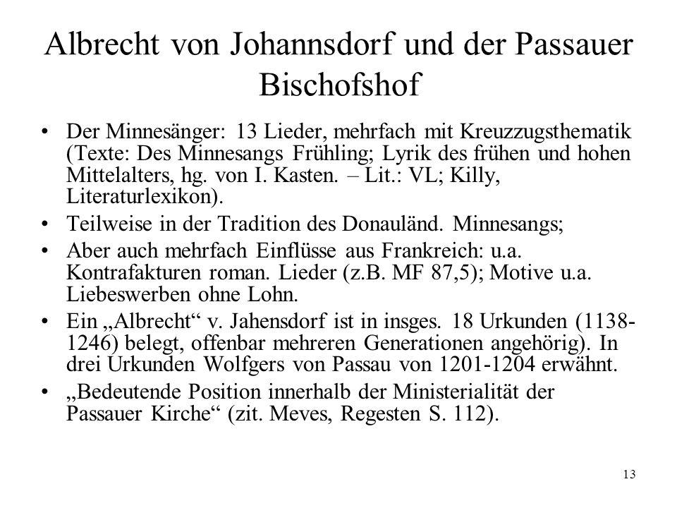 Albrecht von Johannsdorf und der Passauer Bischofshof