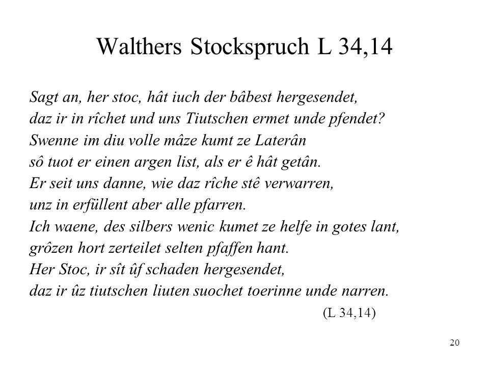 Walthers Stockspruch L 34,14