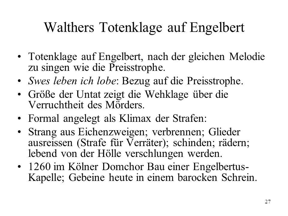 Walthers Totenklage auf Engelbert
