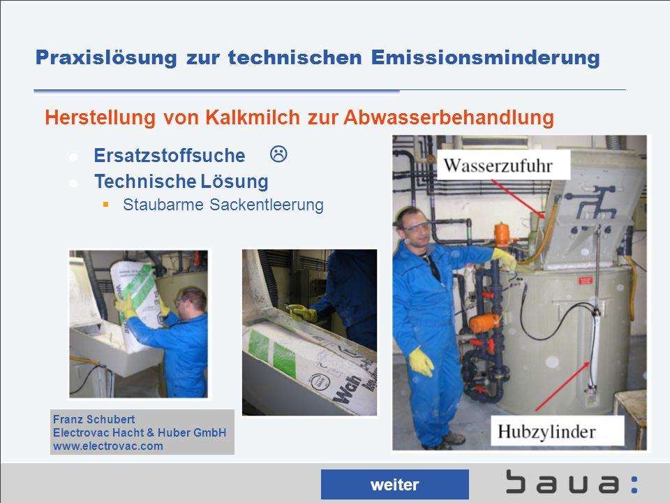 Praxislösung zur technischen Emissionsminderung