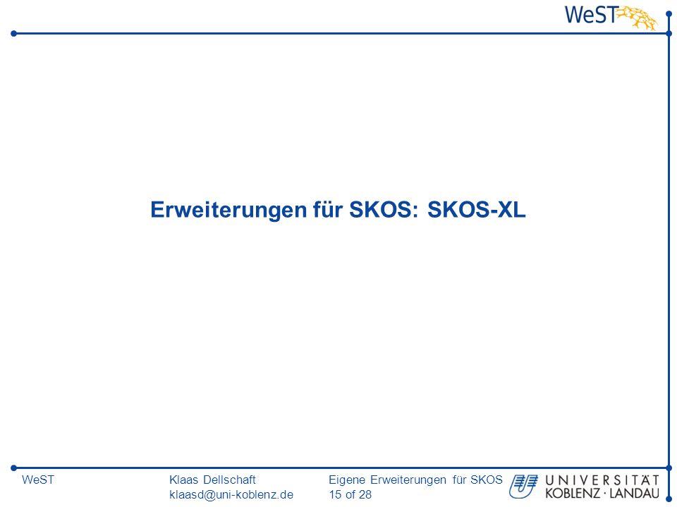 Erweiterungen für SKOS: SKOS-XL