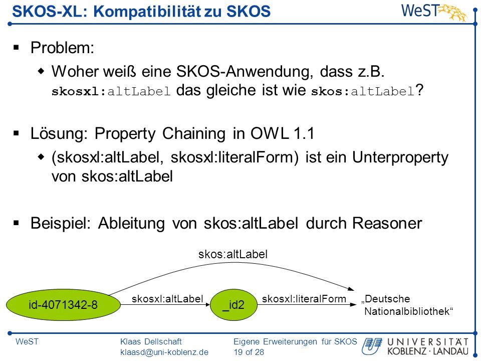 SKOS-XL: Kompatibilität zu SKOS