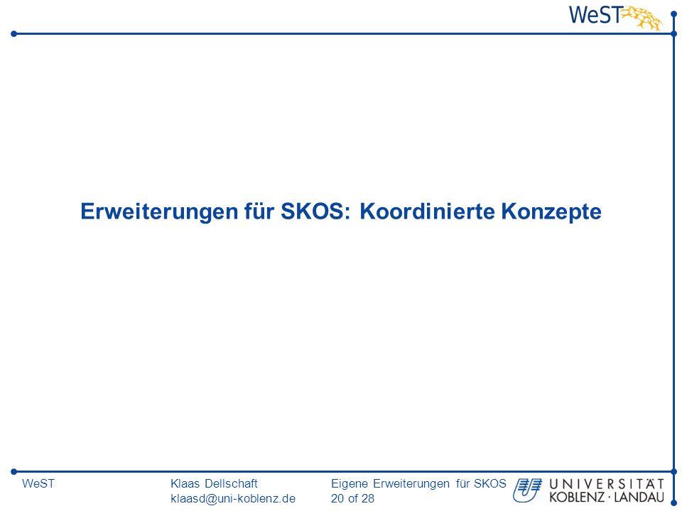 Erweiterungen für SKOS: Koordinierte Konzepte