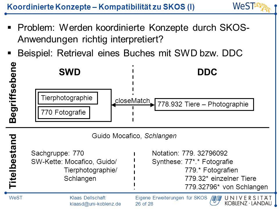 Koordinierte Konzepte – Kompatibilität zu SKOS (I)