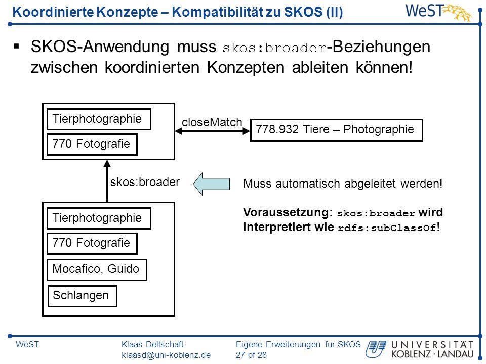 Koordinierte Konzepte – Kompatibilität zu SKOS (II)