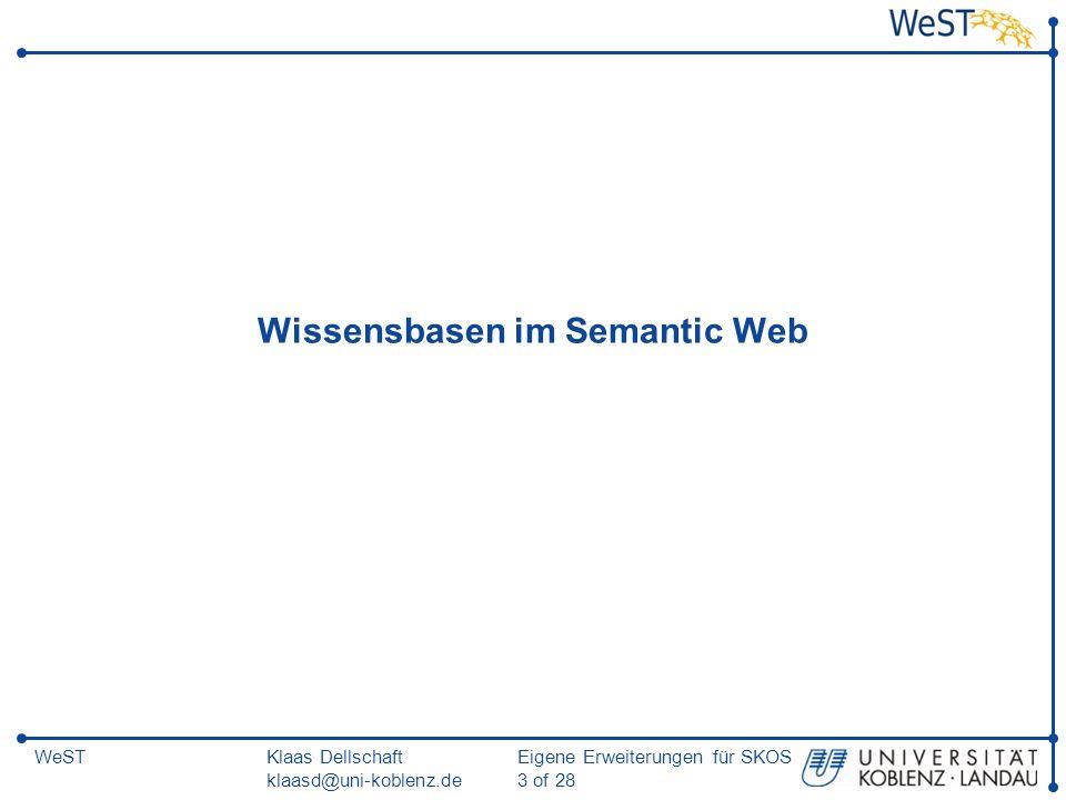 Wissensbasen im Semantic Web