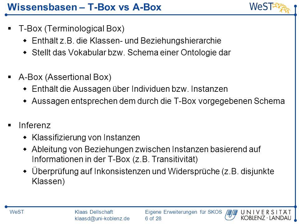 Wissensbasen – T-Box vs A-Box