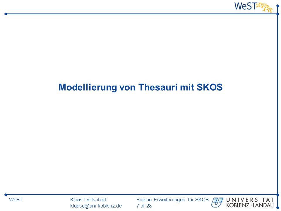 Modellierung von Thesauri mit SKOS