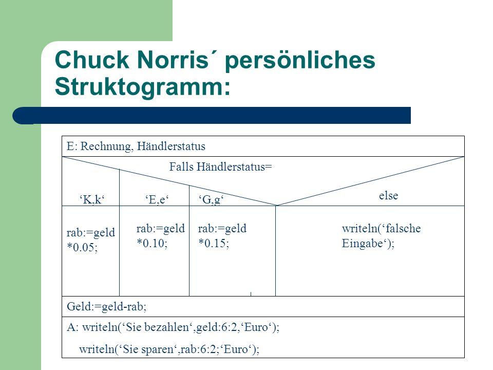 Chuck Norris´ persönliches Struktogramm: