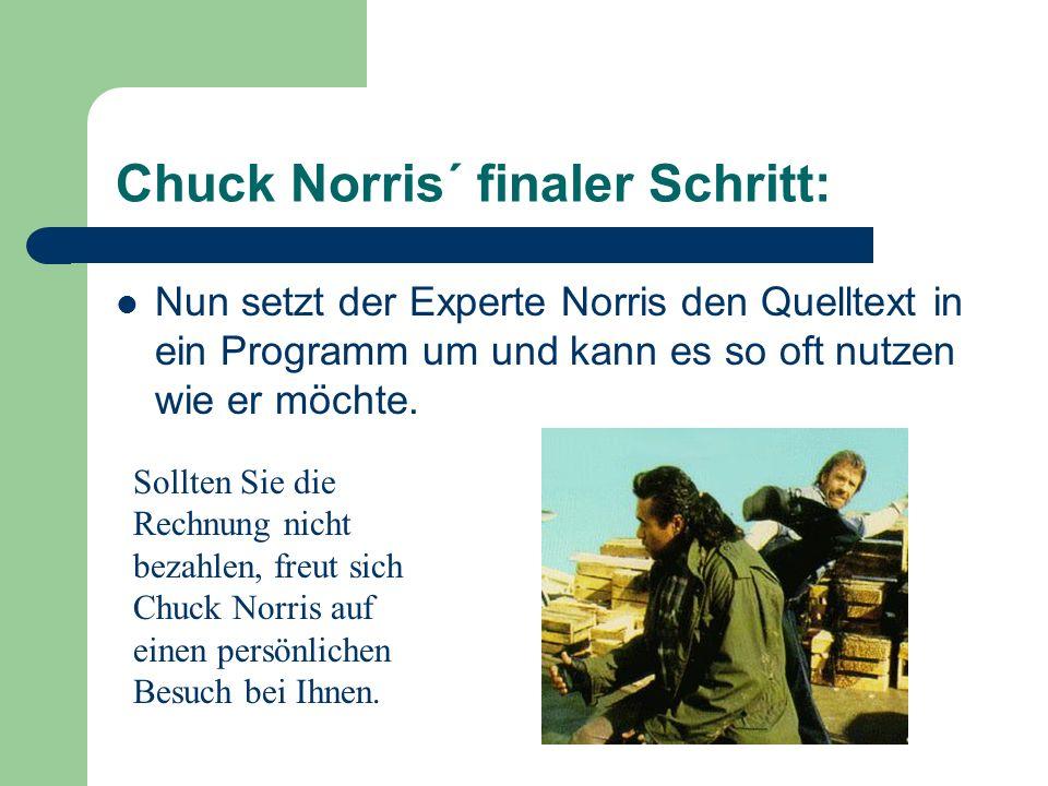 Chuck Norris´ finaler Schritt: