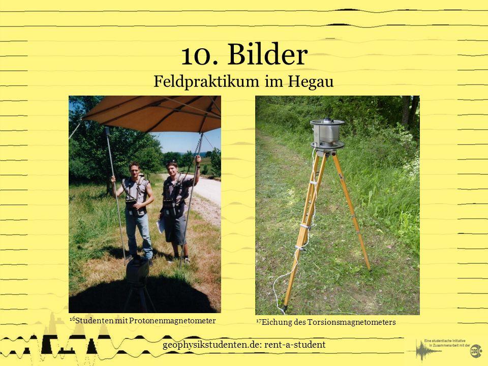 10. Bilder Feldpraktikum im Hegau