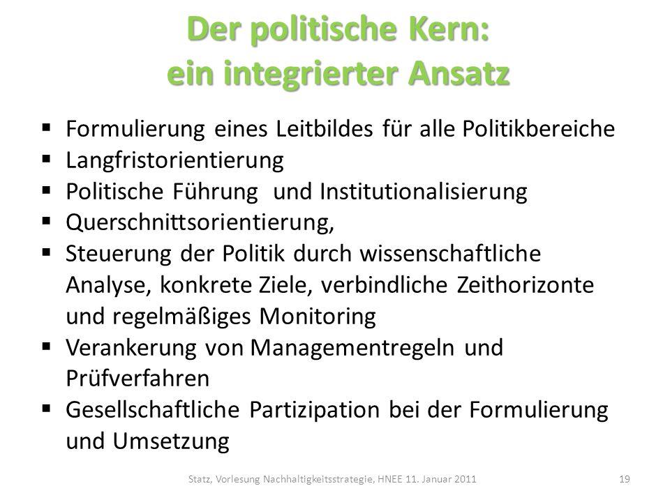 Der politische Kern: ein integrierter Ansatz