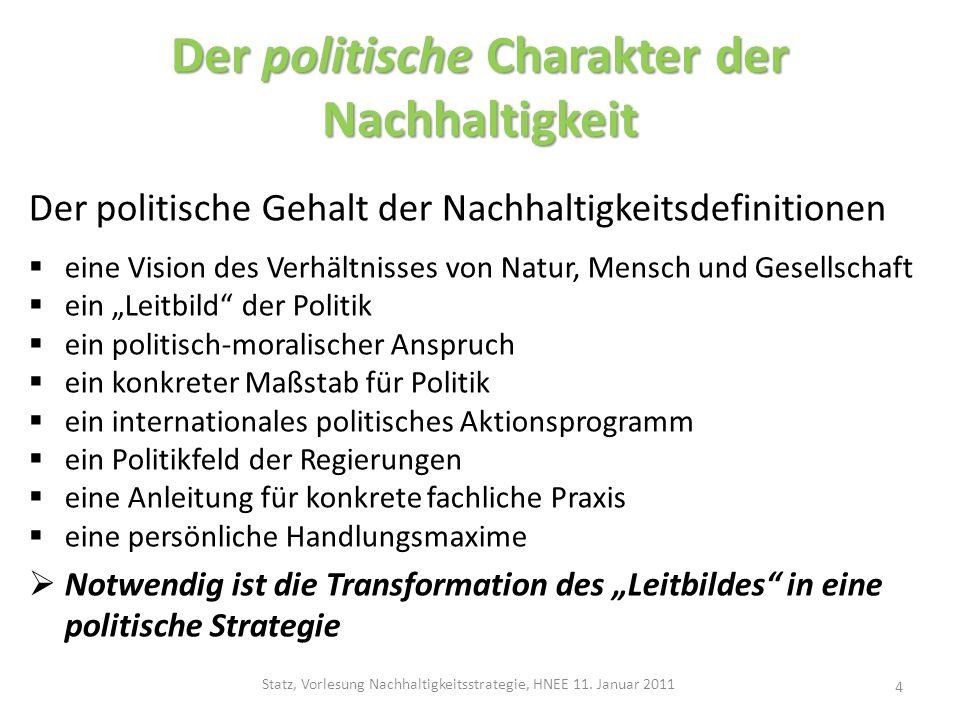 Der politische Charakter der Nachhaltigkeit