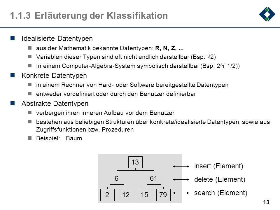 1.1.3 Erläuterung der Klassifikation