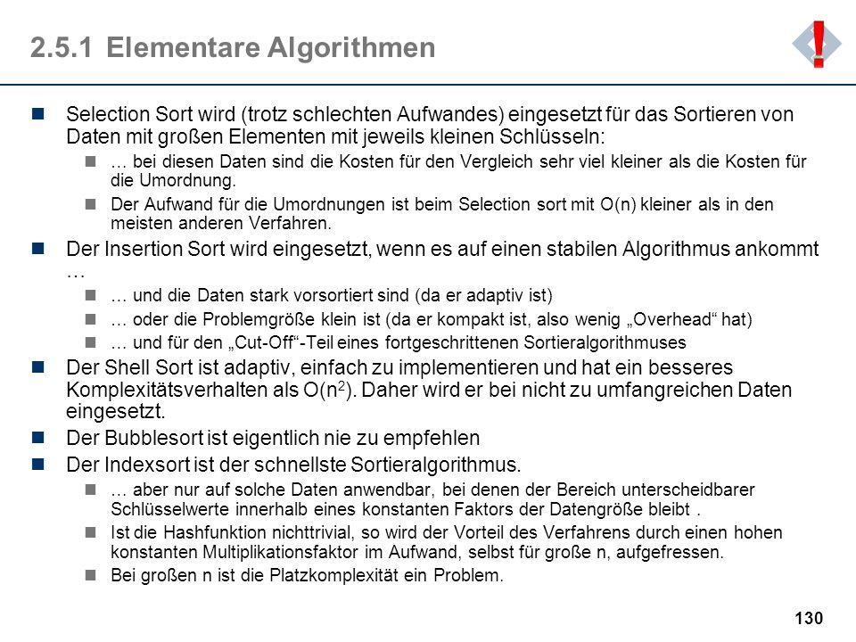 2.5.1 Elementare Algorithmen