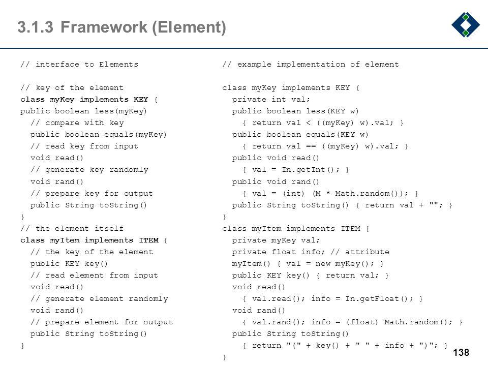 3.1.3 Framework (Element)
